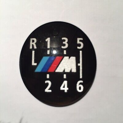 BMW M Sport 6 Speed Gear Knob Replacement Emblem Badge Cap For Manual Cars