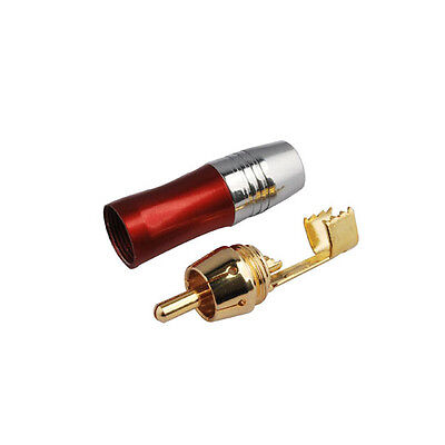 RCA straight plug Male crimp Red RF connector for cable 50-5