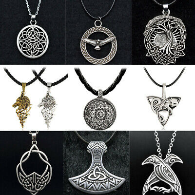 Medieval Viking Retro Celtic knot Necklace Amulet Symbol Norse Pendant Jewelry