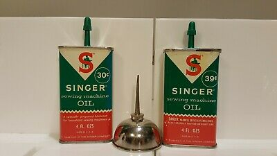 VINTAGE SINGER SEWING MACHINE OIL 4 FL. OZS With Oiler
