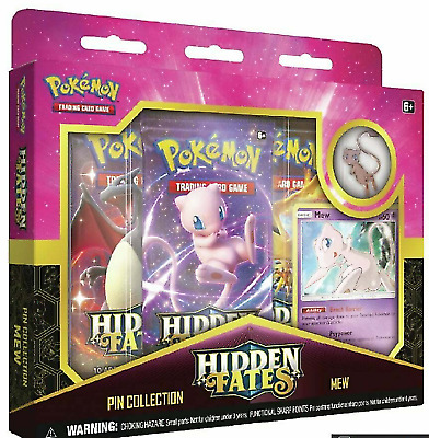 Hidden Fates Pin Collection Box - Mew - Pokemon Trading Card Game New & Sealed