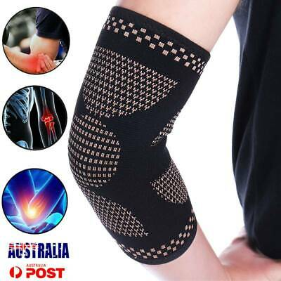 CFR Elbow Support Sleeve Copper Compression Arm Brace Arthritis Joint Pain Wrap
