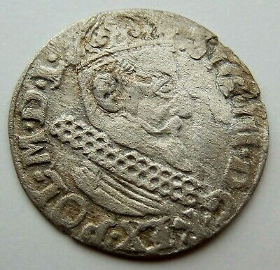 1620 Poland Medieval Hammered Silver Coin Rare!