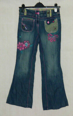 NEXT Denim Trousers Embroidered Jeans  kids Girls  age 10 years