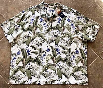 Tommy Bahama Blumenau 100/% Silk Camp Shirt Mens 2XB NWT $148 Marble Cream Floral