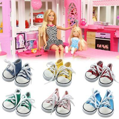 """Doll Clothes fits American Girl Hot 18"""" Canvas Sneakers Gym Shoes Accessory New"""