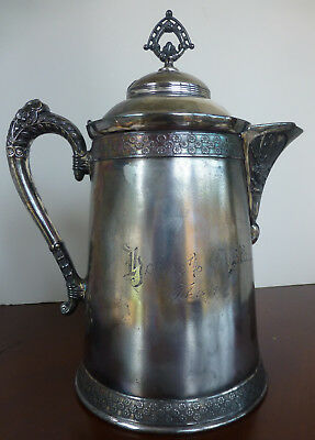 Antique Quadruple Plated Silver Pitcher From Pairpoint Mfg.