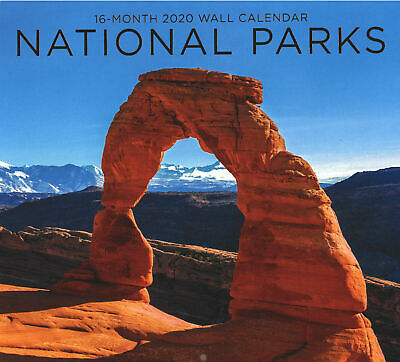 """2020 Wall Calendar -NATIONAL PARKS -Colorful 16 Month-12x22 """" PaperCraft-Sealed"""