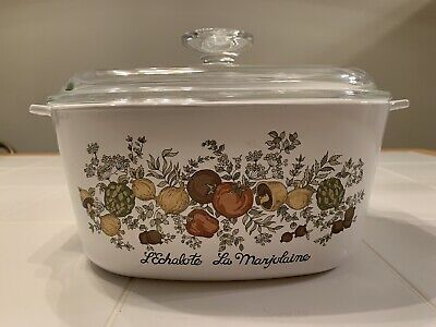 """Vintage Corning Ware Spice of Life A-3-B 3 Quart Casserole with Lid 8x8"""""""
