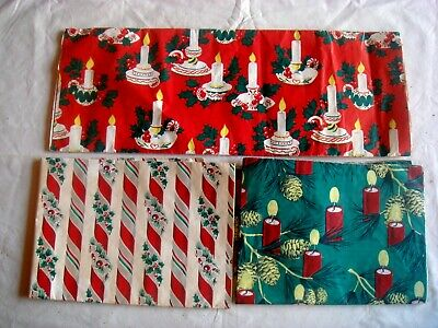 "Assorted Vintage Christmas Wrapping Paper, 10 Sheets, 30"" X 20"""
