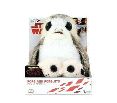 Star Wars The Last Jedi Porg and 2 Porglets Plushes - Disney - Free Shipping