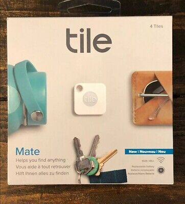 Tile Mate Bluetooth Tracker Device 4 Pack Tile Mates Replaceable Battery  NEW
