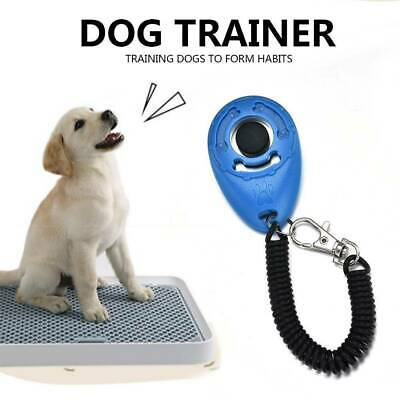 Pet Dog Cat Puppy Button Clicker Training Tool Trainer Aid Free Wrist Strap 1pcs