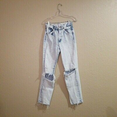 """Vintage Calvin Klein Sport Petite Womens High Waisted Distressed Jeans - 6 26"""""""