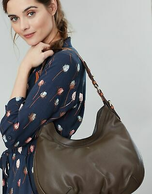 Joules Womens Aldbury Carriage Leather Hobo Bag in KHAKI GREEN in One Size