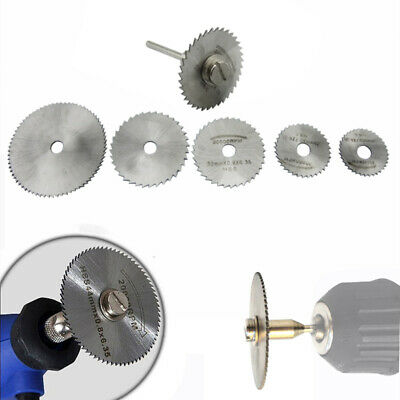 7 Pcs HSS Circular Cutting Saw Blade Disc Mandrel For Dremel Drill Rotary Tool