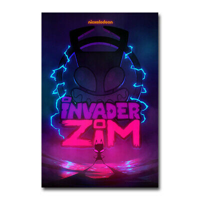 Invader ZIM TV Series Enter the Florpus Poster Silk Canvas Poster Print 24x36''