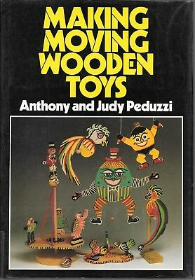 Making moving wooden toys vintage 1985 HB craft woodworking book PEDUZZI