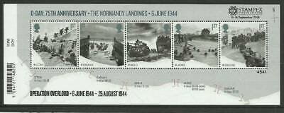 Gb 2019 Autumn Stampex D-Day 75Th Mini Sheet With Overprint *Limited Edition*