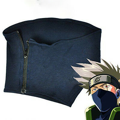 Anime Naruto Kakashi Hatake Cosplay Mask With Zipper  For Birthday Gift New