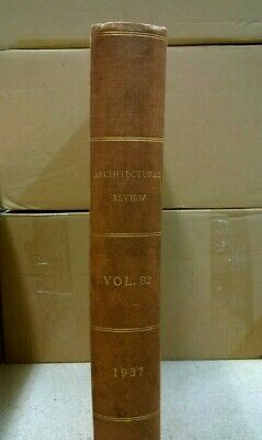 Bound Set: The Architectural Review: Illustrated Journal: Vol 82: July-Dec 1937