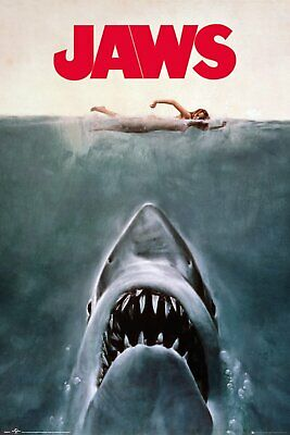 Jaws Classic Movie Art 91.5X 61Cm Maxi Poster New Official