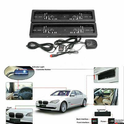 Electr Hide Stealth License Plate Car Number Roller Shutter Protect Cover+Remote