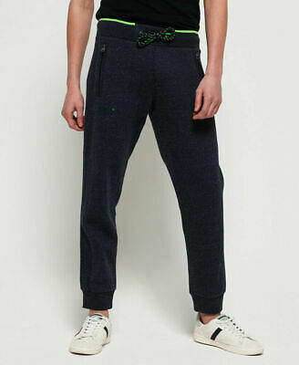 New Mens Superdry Orange Label Hyper Pop Joggers Atlantic Navy Grit