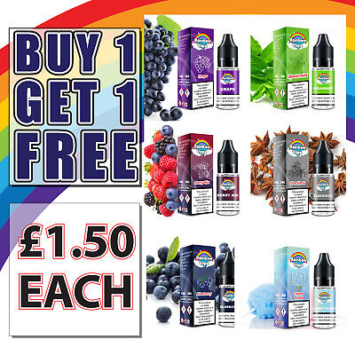 Rainbow Vape E Liquid 10ml Juice 0mg 3mg 6mg 11mg and 18mg eLiquid TPD flavour