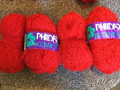 150g Phildar Licorne B7  knitting wool yarn. Red
