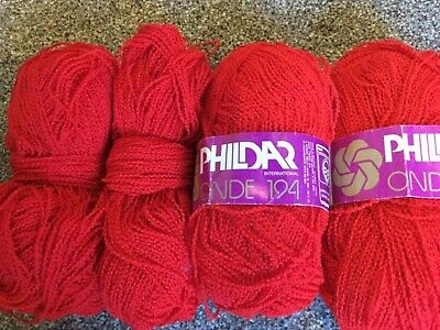 160g Phildar ONDE knitting wool yarn. Red