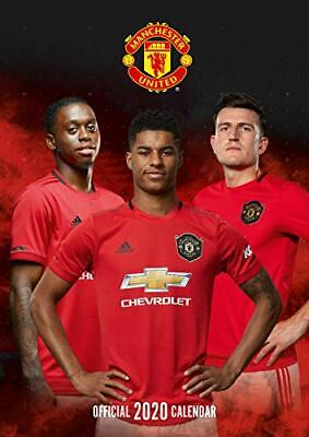 Manchester United FC 2020 Calendar - Official A3 Month to View Wall Calenda NEW