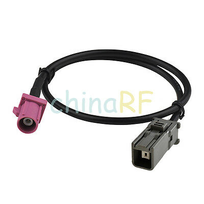 "Fakra SMB H male plug to HRS GT5-1S female 15cm pigtail RG174 6"" for GPS Antenna"