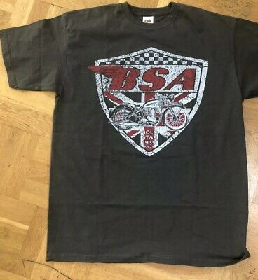 BSA gold star KM24 tee shirt new Dark Grey 1939 New