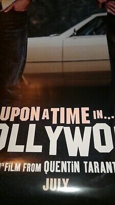 Once Upon A Time In Hollywood 27x40 DS Original Movie Poster TARANTINO ROBBIE