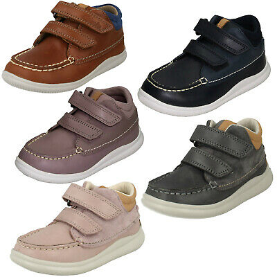 Girls Boys Toddler Clarks Cloud Tuktu Hook & Loop Kids Casual Ankle Boots Size