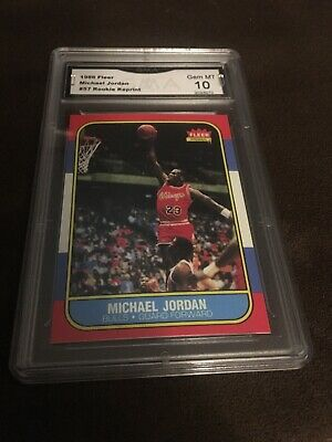 1986 Fleer Michael Jordan #57 ROOKIE RC REPRINT RP 10 Gem Mint
