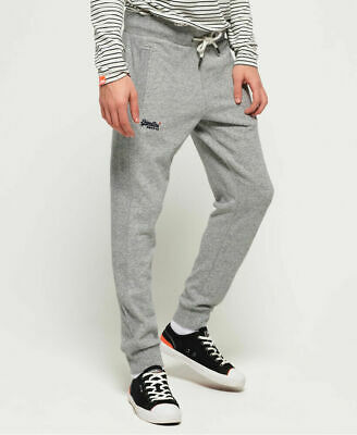 New Mens Superdry Orange Label Lite Joggers Track Grey Grindle