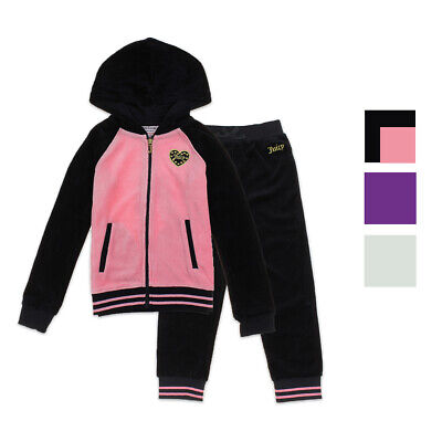 Juicy Couture Baby Girls 2 Piece Velour Jog Set