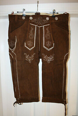 Lederhosen Company Lederhosen 100% Leather Traditional size 34/36 waist as pic