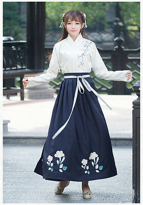 Chinese Ancient Traditional Hanfu Women Fusion Modern Hanbok Tang Dynasty Consum