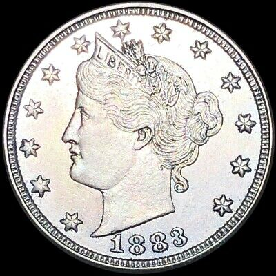 1883 Liberty Victory Nickel HIGHLY UNCIRCULATED Philadelphia Shiny 5c Coin NR!!