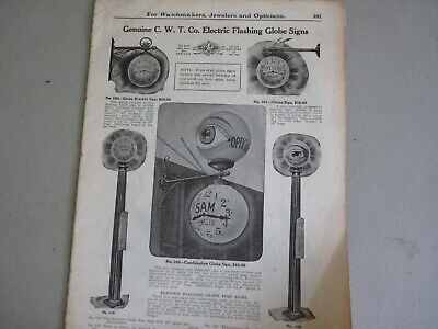 Vintage Rare Ads Watchmakers Jewelers Opticians Signs