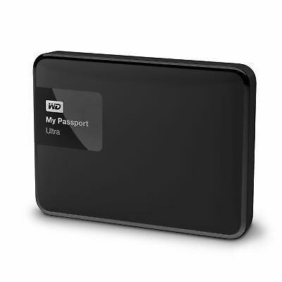 WD Western Digital My Passport Ultra HDD 1TB Portable External Hard Drive Black