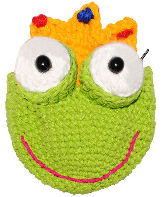 """"""" Frog - with Crown """" - 3-D Purse/Organizer/ Wallet/ Purse"""