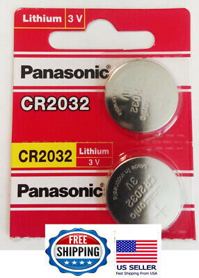 2 Panasonic CR2032  ECR 2032 Battery 3V. Exp. 2028. FAST USA Shipping!