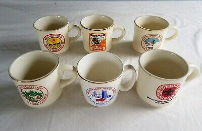 6 Vintage BSA Boy Scouts Coffee Mugs Cups GREATER NIAGARA FRONTIER COUNCIL NY