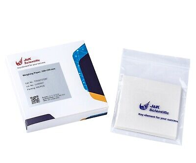 J&K Scientific 10×10 mm(4''x4'') Cellulose Weighing Paper, Non-Absorbent (500pc)