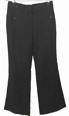 BNWT Marks & Spencer black pure linen trousers 10 Limited Collection 30L Pockets
