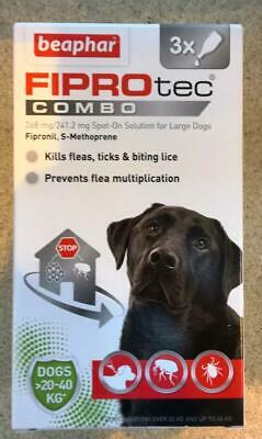 Beaphar FIPROtec COMBO Spot On for Large Dogs 3 treatments